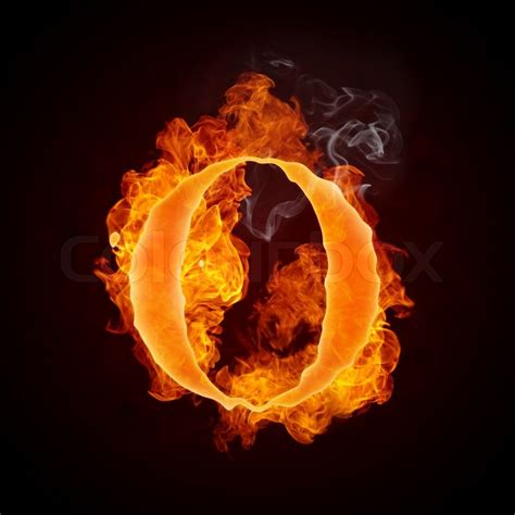 Fire Letter O Isolated on Black Background | Stock Photo ... O Alphabet Wallpaper