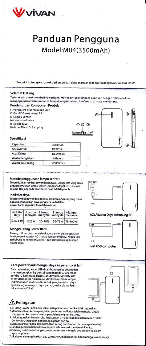 Power Bank Vivan M04 powerbank vivan m04 elektrologi