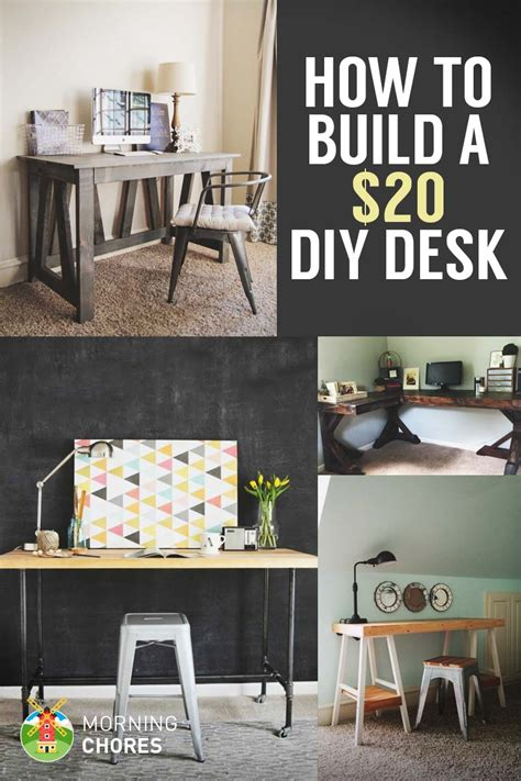 build  desk   bonus  cheap diy desk plans