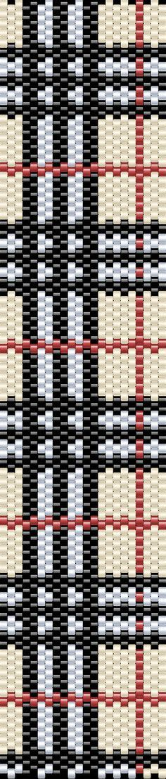 burberry pattern ai neutral loom bracelet pattern great colors for fall