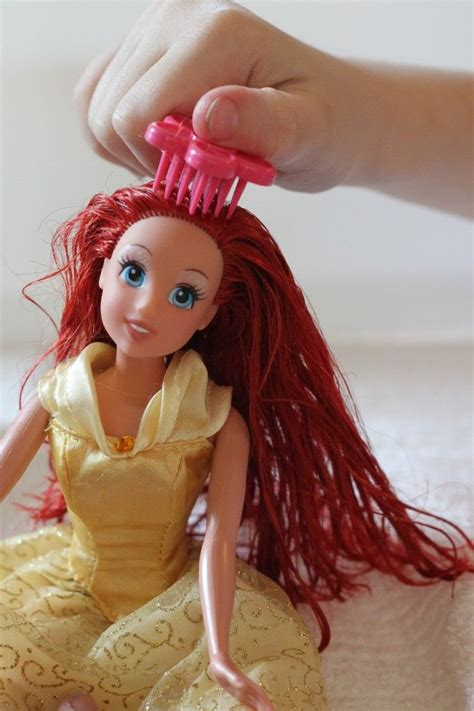 how to comb my girl doll hair hairbrush hairstyle dolls fix barbies hair