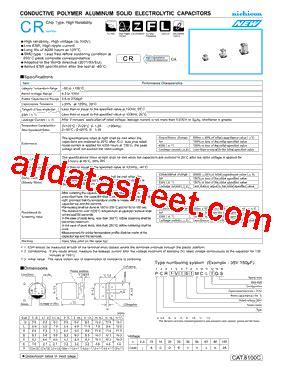 transistor a102 pdf pcr1a102mcl1gs datasheet pdf nichicon corporation