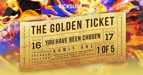 Contest The Lush Golden Ticket by Kicks Usa Golden Ticket Giveaway Win Free Sneakers For A