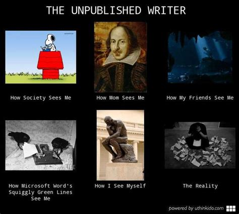 Writer Memes - the unpublished writer what people think i do often