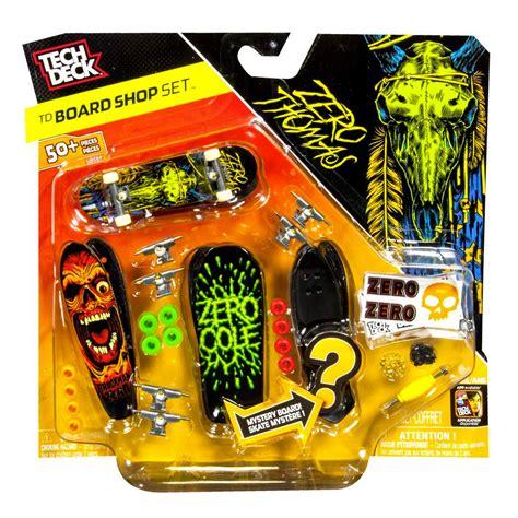 tech deck spin master tech deck tech deck board shop zero 4 pk