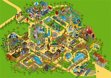 theme park generator 2009 chessington world of adventures theme park map illust