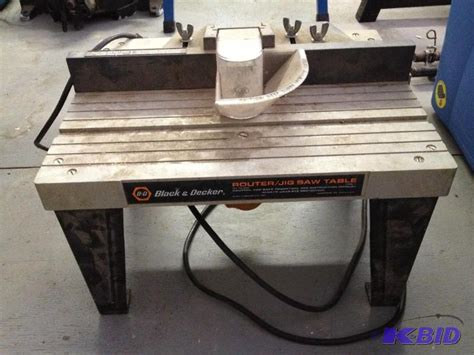 black and decker router jig saw table with router