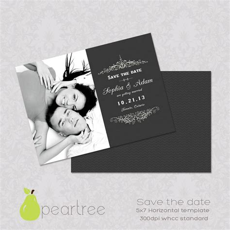 save the date psd template 5x7in save the date psd template 107 instant