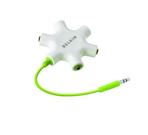 Dijamin Belkin Rockstar 5 Ways 3 5mm Headphone Splitter belkin 5 way 3 5mm stereo headphone earphone audio