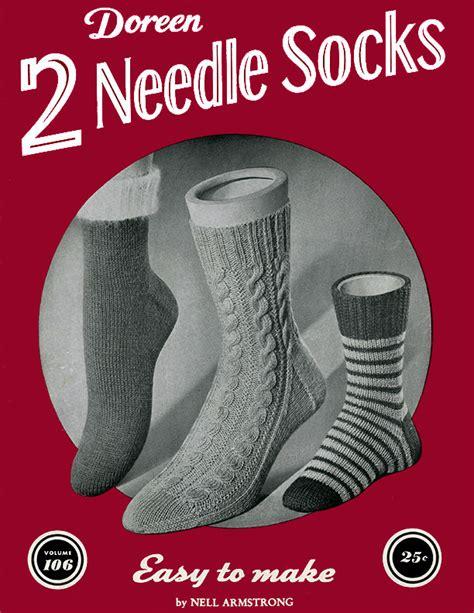 pattern for two needle socks two needle socks volume 106 doreen knitting books