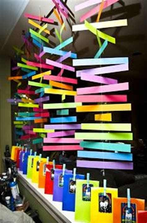 Hanging Classroom Decorations by Classroom Decor Idea Stitch Pieces Of Paper Together For