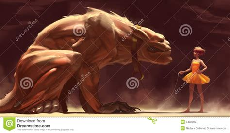 A Beastly and a beast stock illustration illustration of