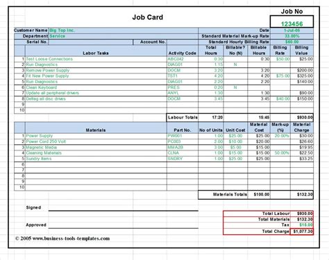Cost Card Template by Labor And Material Cost Estimator Card Template Excel