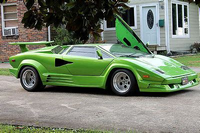 Custom Lamborghini Countach Lamborghini Countach Custom Built Car Used Replica Kit