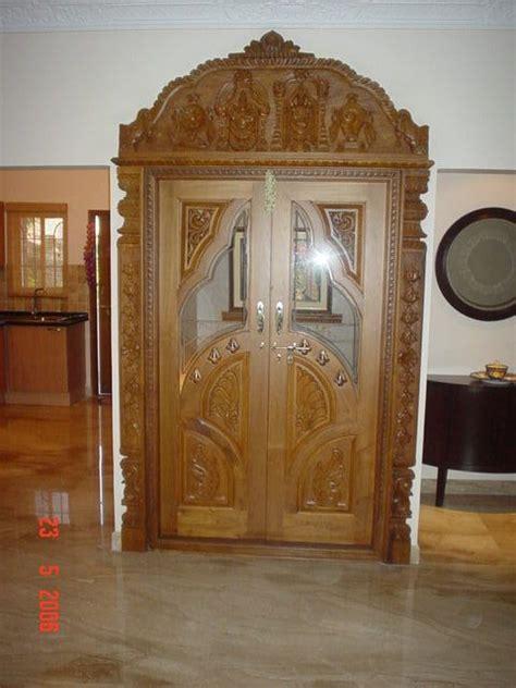 wood door  glass  pooja room google search room