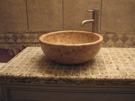 Countertops For Vessel Sinks bathroom countertops for vessel sinks bathroom design