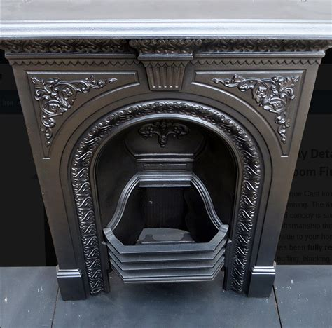Vintage Cast Iron Fireplace secondhand vintage and reclaimed fireplaces and
