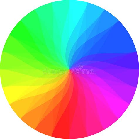 rainbow color wheel rainbow color wheel stock illustration illustration of