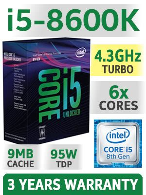 Intel I5 8600k Processor 9m Cache Up To 4 30 Ghz intel i5 8600k processor free shipping best deal in south africa