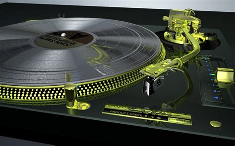 And Technics by Realistic Turntable Technics Sl1200gld By Humangraphics