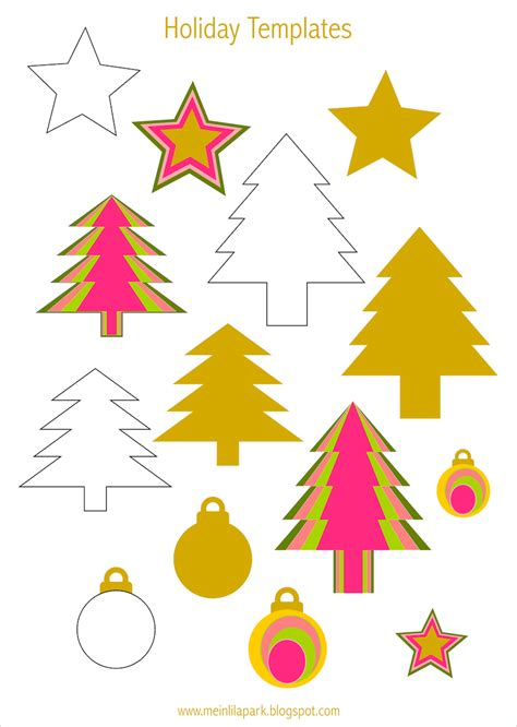 printable christmas tree baubles free printable holiday templates tree star and bauble