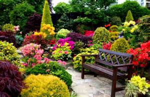 Most Beautiful Garden Beautiful Gardens With Green Shrubs And Grass And Outdor