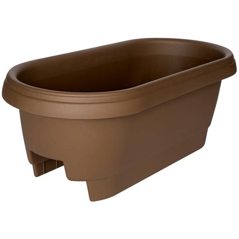 banister planters cobraco 24 in canterbury horse trough steel planter htcb24 b the home depot