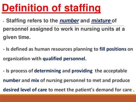 pattern maintenance organization definition patient classification system staffing