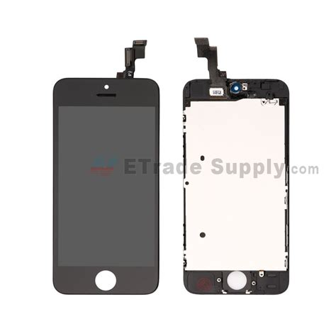 Apple Iphone 5s Lcd apple iphone 5s lcd screen and digitizer assembly with frame black etrade supply