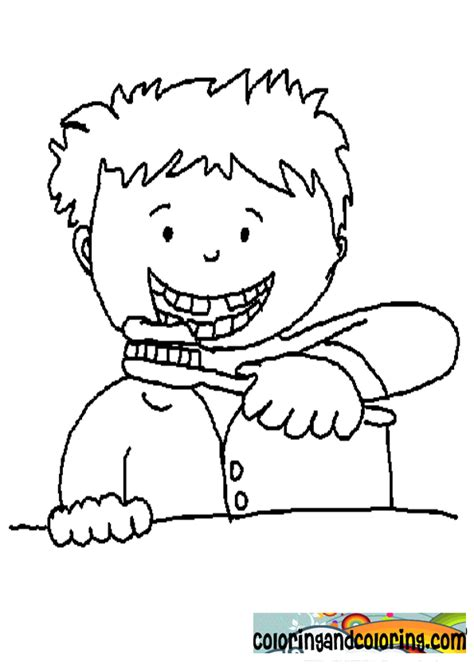 brush teeth coloring page az coloring pages
