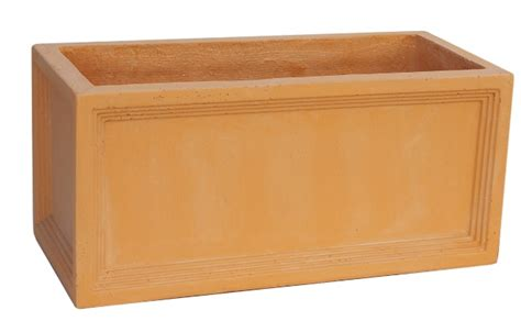 What Is A Planter by Mayfair Fibreclay Terracotta Trough Planter 50cm