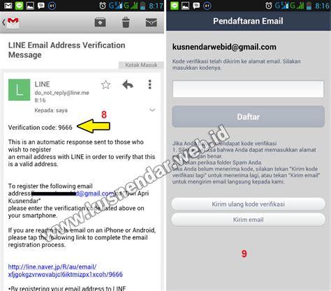 email verifikasi cara daftar akun aplikasi line di android kusnendar