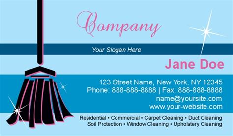 clean buisiness card template cleaning services business cards