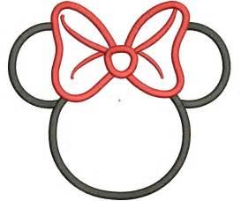 mouse minnie outline clipart clipart suggest