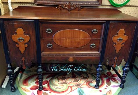 Homestead Handcrafts - two toned antique buffet restyle general finishes design