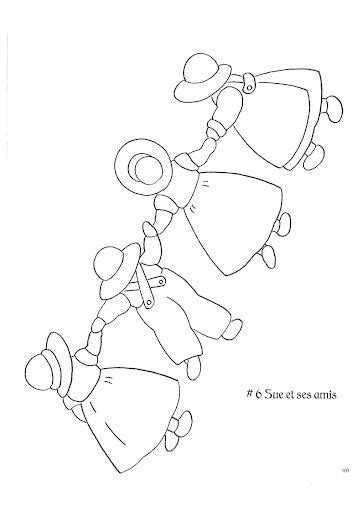sunbonnet sue et overall bill adult coloring pages