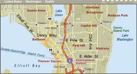 seattle map downtown map of downtown seattle wa pictures to pin on