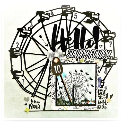 scrapbook layout ferris wheel 857 best images about favorite scrapbooking layouts on