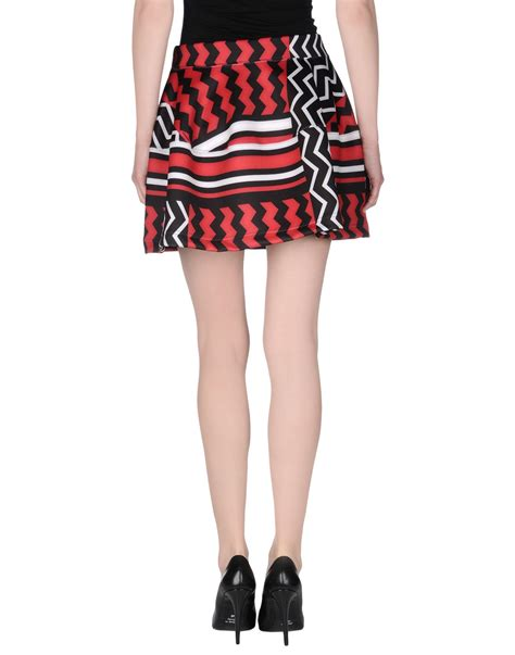 P A R O S H Mini Skirt lyst p a r o s h mini skirt in