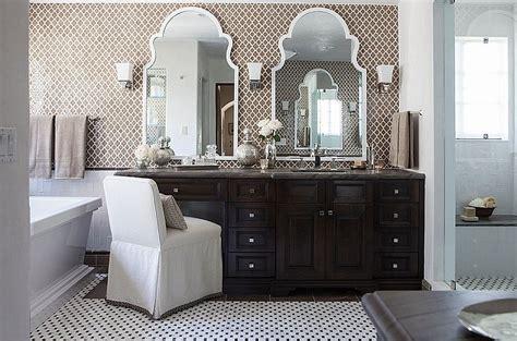 20 Gorgeous Black Vanity Ideas For A Stylishly Unique Bathroom Moroccan Bathroom Vanity