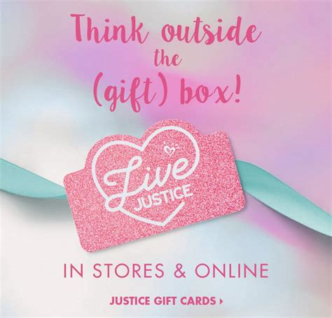 Justice Gift Card - tween clothing fashion for girls justice