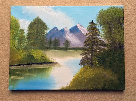 bob ross painting attempts my attempt at painting after being inspired by