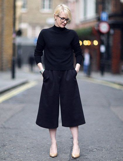 Cullote Basic Navy 10 images about how to wear culottes on wide trousers and