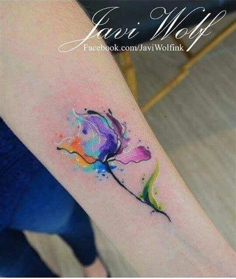 water color flower tattoo de 25 bedste id 233 er inden for javi wolf p 229