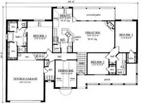 3 bedroom ranch floor plans 1880 square 3 bedrooms 2 189 batrooms on 1 levels house plan 5393 ranch house plans