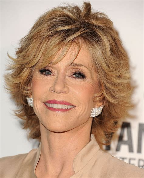 jane fonda hairstyles  women   elle hairstyles