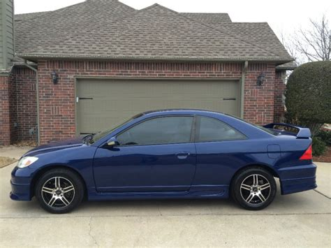 honda civic  coupe blue auto carfax certified
