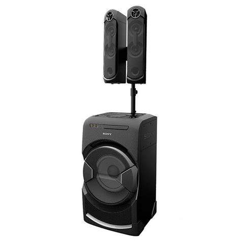 sony light up speaker sony mhc gt4d light up portable speaker system with bass