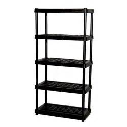 plastic storage shelves lowes shop blue hawk 72 in h x 36 in w x 18 in d 5 tier plastic