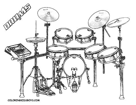 majestic musical drums coloring drums free snare